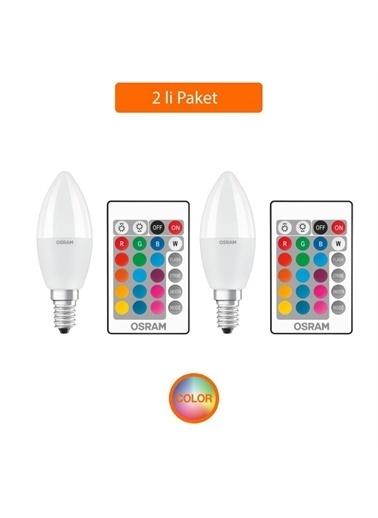 Osram 5.5 W Uzaktan Kumandalı Led Ampul Sarı Işık E-14 Duy 2 Li P Renksiz